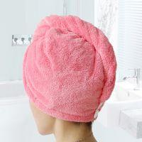 韩国多色超强吸水珊瑚绒干发帽柔软加厚免吹速干干发毛巾浴帽批发