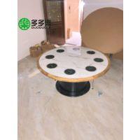 深圳多多乐厂家批发 一人一锅带电磁炉火锅桌子中式实木包边台面 尺寸定制 免费设计
