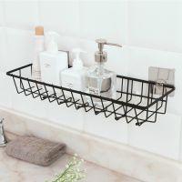 厨房置物架厨房浴室储物架铁艺壁挂收纳篮免打孔调料架墙上置物架