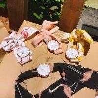 夏季休闲新款手表简约学生石英表日系少女小清新布带圆表绑带腕表