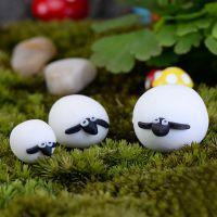 苔藓微景观多肉植物组合盆栽可爱绵羊一家小摆件DIY组装迷你摆件