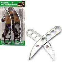 火影忍者道具阿斯玛双手刀18CM合金套装动漫兵器摆件