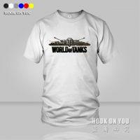 坦克世界2游戏 World of Tanks半截袖短袖T恤衫 男女情侣装纯棉