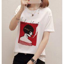 2019夏季新款韩版女装短袖T恤 便宜纯棉女式休闲杂款T恤 厂家批发货源