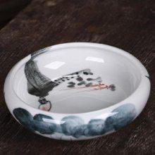 窑变中式办公陶瓷烟缸 潮流多功能家居烟灰缸 创意大号烟灰缸