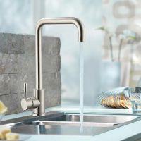 不锈钢洗碗池冷热水龙头 厨房花瓶菜盆可旋转龙头立式水暖五金