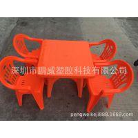 荐!简单实用型塑胶桌 食堂学生方桌 可配靠背椅 塑胶大方桌 圆桌