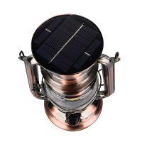 马灯太阳能可充电多功能户外照明应急野营帐篷灯复古煤油灯手提灯