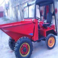 上海园林施工翻斗车 工程液压自卸四轮车 山地拉稻草用的前卸式翻斗车