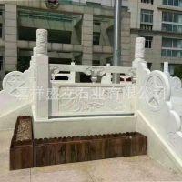 厂家畅销寺庙广场建设河堤石栏杆芝麻白花岗岩石雕栏杆 大量批发
