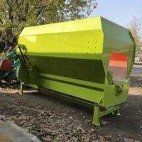 双轴干草饲料搅拌机 可牵引的卧式tmr混草机 中泰机械