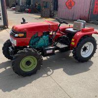 果园新型四轮拖拉机 小型旋耕开沟起垄机 东方红多功能农用四轮拖拉机厂家