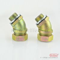 45°包塑管接头连接器 金属软管接头防爆金属软管优质接头