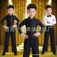 元旦儿童拉丁舞演出服少儿比赛表演服新款男童服装学生舞蹈服秋冬