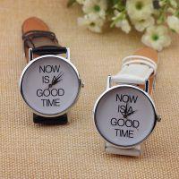 外贸热卖 日内瓦手表 NOW IS A GOOD TIME 男表女表学生手表