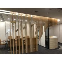 贵阳餐厅木纹铝窗格质量定制厂家