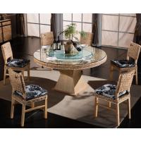 天津藤家具酒店藤椅餐厅藤编餐桌椅组合厂家直销藤餐椅
