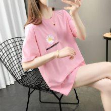 时尚韩版新款女装短袖批发厂家 便宜女装半袖T恤批发 小衫
