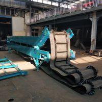 皮带倾斜装货输送机 槽型大型输送机 车间流水线输送带