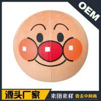 外贸出口瑜伽球卡通面包超人毛绒公仔套平衡球公仔毛绒保护套定制