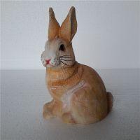 树脂工艺品批发 橱窗饰品仿真兔子摆饰田园十二生肖可爱小动物