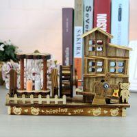 厂家直销木风车音乐盒木质手工摆件家居装饰朋友生日节日礼物