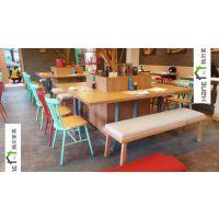 杭州西湖景观餐厅桌椅 餐厅实木桌子 椅子定制 上海韩尔复古品牌