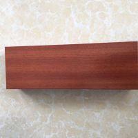 6063枣红色装饰木纹铝方管 喷涂氧化电泳铝方管