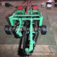 拖拉机后悬挂式花生收获机 链条花生拔果机 有序铺放效率高收获机
