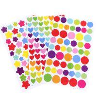 韩国创意奖励贴纸卡通彩色日记手账装饰贴圆点爱心五角星儿童diy