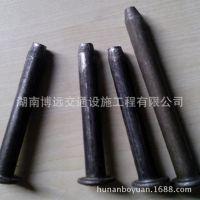 钢钉10cm减速带铁钉 镀锌不生锈钢钉 车位锁挡车器警示柱专用钢钉