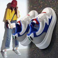 2018秋季韩版休闲鞋女运动跑步板鞋学生厚底增高鞋小白鞋女鞋608