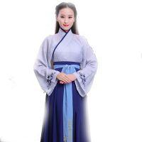 2018新款改良中国风清新 古典裙装儒学文化汉服 演出服古装女款