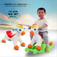 新款儿童摇马滑行小木马滑车两用宝宝婴儿童塑料摇椅带音乐玩具