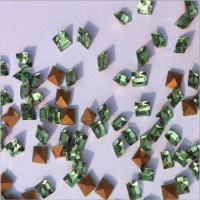 厂家直销 3*3浅绿水晶尖底方钻 玻璃异形水钻 高档钟表饰品配件