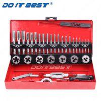 32件套丝锥板牙五金工具 手用机用丝攻扳手绞手公制丝攻组合套装