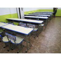 合肥定做家具 培训课桌椅 塑料学生学习桌 隔断一对一课桌 书桌