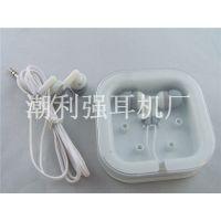 供应3C数码配件批发小方盒耳机礼品耳机伸缩耳机按LOGO定制