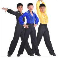 新款儿童拉丁舞演出服男童练功服训练服比赛服恰恰舞交际舞蹈服装