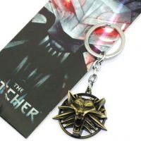 The Witcher巫师-狩魔猎人-猎魔人2色狼头匙扣项链动漫新品大旗帜