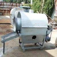 家用芝麻花生电动炒锅 大型不锈钢滚筒炒货机 不锈钢食品炒锅