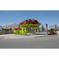 我们专业定制铁架工艺品,铁架花坛造型,铁架花盆景观造型