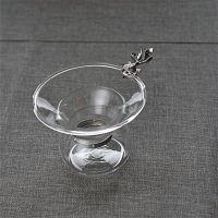 玻璃茶漏透明茶滤功夫茶具茶道金鱼银鱼过滤茶器大号过滤网不锈钢