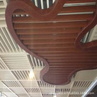定制30*50滚涂U型铝方通 铝方通安装间距 广州木纹方通吊顶生产厂家