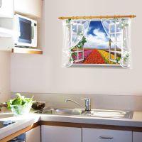 墙贴批发假窗风景沙发背景客厅电视墙卧室装饰餐厅贴纸AY9020B