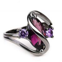 速卖通热卖 欧美镀银饰品 仿真锆石心型戒指女 微镶宝石指环批发