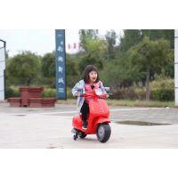 新款可坐可骑儿童宝宝电动摩托车三轮车小木兰充电踏板车