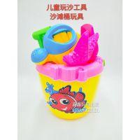 厂家直销大号沙滩桶玩具套装儿童玩沙工具9元9热卖货源玩具批发