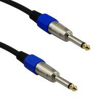 现货 带屏蔽网 6.35 公对公电吉他音频线 吉他效果器连接线 XLR线