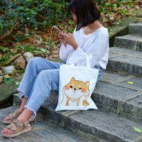 可爱动物卡通柴犬狗狗动漫周边二次元帆布包单肩手提购物袋定制